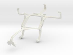 Controller mount for Xbox 360 & Motorola RAZR D1 in White Natural Versatile Plastic