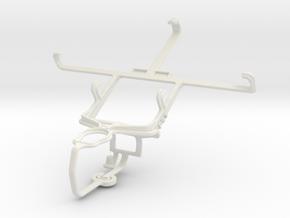Controller mount for PS3 & Motorola RAZR HD XT925 in White Natural Versatile Plastic