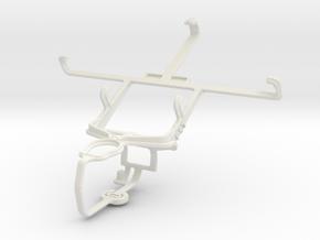Controller mount for PS3 & Motorola RAZR V XT889 in White Natural Versatile Plastic