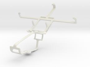 Controller mount for Xbox One & Motorola RAZR V XT in White Natural Versatile Plastic