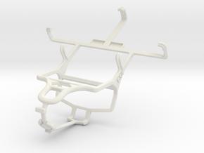 Controller mount for PS4 & Motorola XT390 in White Natural Versatile Plastic
