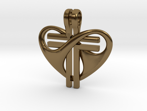 Love and Sacrifice - LARGE in Polished Bronze