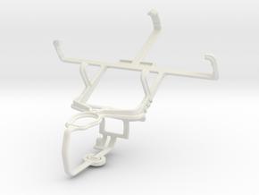 Controller mount for PS3 & NIU Niutek 3.5B in White Natural Versatile Plastic