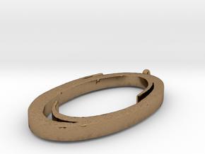 Portal Pendant in Natural Brass