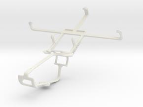 Controller mount for Xbox One & Panasonic Eluga Po in White Natural Versatile Plastic