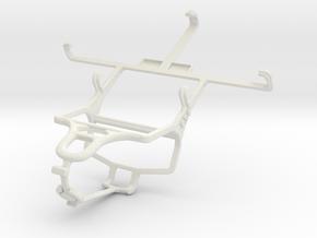 Controller mount for PS4 & Pantech Flex  P8010 in White Natural Versatile Plastic
