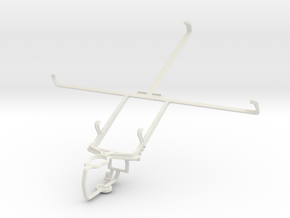 Controller mount for PS3 & Pantech Element in White Natural Versatile Plastic