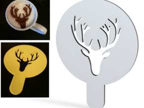 Deer - coffe plate (shape) - decoration in White Strong & Flexible