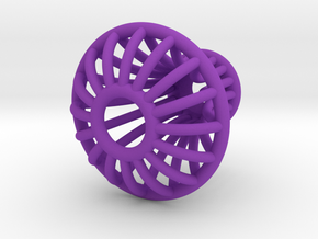 Knob 010215 A in Purple Processed Versatile Plastic