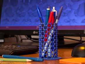 NanoTube Pen Holder in Blue Processed Versatile Plastic