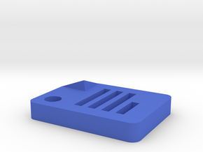 Google Docs Icon (size: Tiny) for Keychain, Charm  in Blue Processed Versatile Plastic
