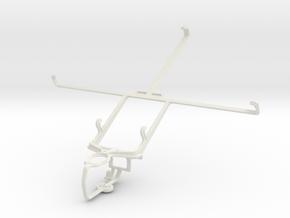 Controller mount for PS3 & Prestigio Multipad 4 Qu in White Natural Versatile Plastic