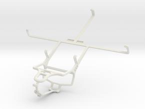 Controller mount for PS4 & Prestigio MultiPad 7.0  in White Natural Versatile Plastic