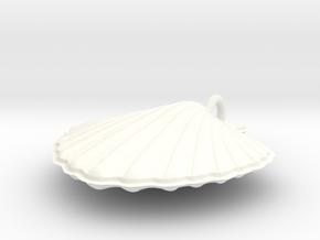 Scallop Necklace in White Processed Versatile Plastic