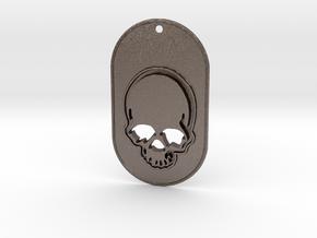 Skull mark in Polished Bronzed Silver Steel