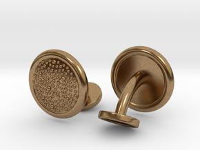 Ray Skin Cufflinks (pair) in Natural Brass