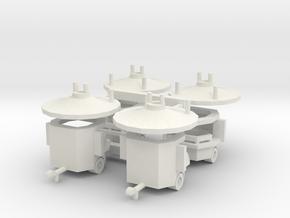 4 Roundjet - 1:220 (Z scale) in White Natural Versatile Plastic