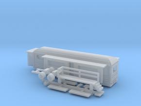 Wohnwagen rundes Dach für 1:220 (z scale) in Smooth Fine Detail Plastic