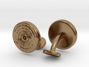 Ripple Cufflinks (pair) in Natural Brass