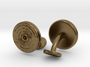 Ripple Cufflinks (pair) in Natural Bronze