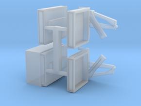 4 Pritschen für 1:220 (z scale) in Smooth Fine Detail Plastic