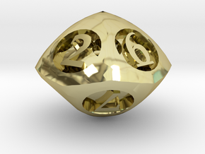 Overstuffed d10 in 18K Gold Plated