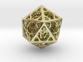 Cage Die20 in 18K Gold Plated