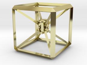 Guy Dascalu D6 dice unique design in 18K Gold Plated