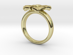 new ring flower S53 in 18K Gold Plated