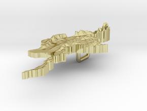 Myanmar Terrain Silver Pendant in 18K Gold Plated