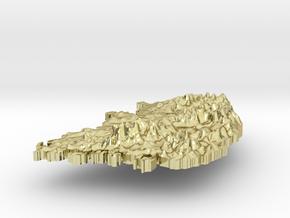 South Korea Terrain Silver Pendant in 18K Gold Plated
