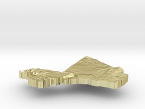 Mali Terrain Silver Pendant in 18K Gold Plated