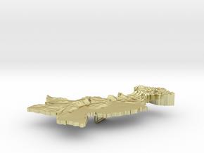 Pakistan Terrain Silver Pendant in 18K Gold Plated