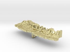 Nepal Terrain Silver Pendant in 18K Gold Plated