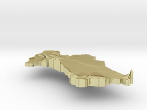Turkmenistan Terrain Silver Pendant in 18K Gold Plated