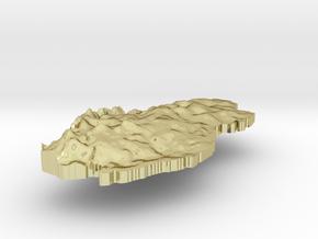 Qatar Terrain Silver Pendant in 18K Gold Plated