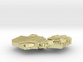 Zambia Terrain Silver Pendant in 18K Gold Plated
