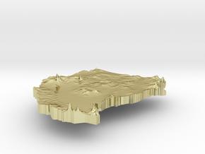 Sudan Terrain Silver Pendant in 18K Gold Plated