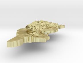 Tunisia Terrain Silver Pendant in 18K Gold Plated