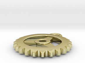 Gear Pendant - Three in 18K Gold Plated