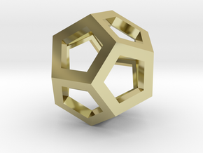 Dodecahedron in 18K Gold Plated