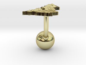 United Kingdom Terrain Cufflink - Ball in 18K Gold Plated