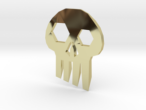 ''Skull'' Keychain / Pendant Multitool in 18K Gold Plated