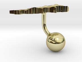 Lebanon Terrain Cufflink - Ball in 18K Gold Plated
