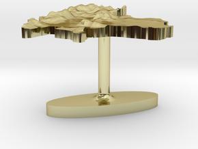 Thailand Terrain Cufflink - Flat in 18K Gold Plated