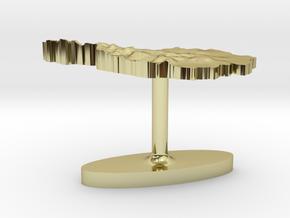 Austria Terrain Cufflink - Flat in 18K Gold Plated