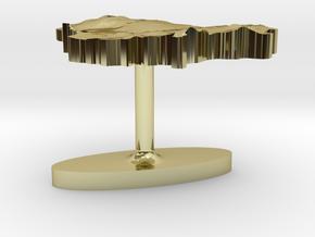 Lithuania Terrain Cufflink - Flat in 18K Gold Plated