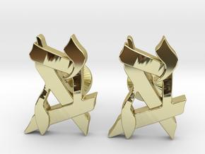 Custom Monogram Cufflinks in 18K Gold Plated