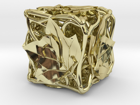 Botanical Die6 (Tulip Tree) in 18K Gold Plated