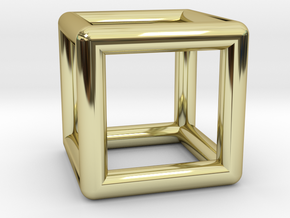 Hexahedron (Cube) in 18K Gold Plated